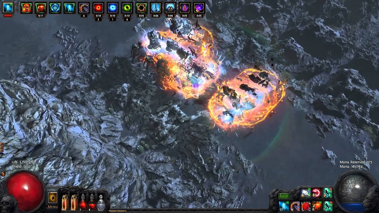 path of exile wasteland map domination style crazy explosion