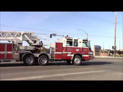 Sacramento Metro Fire District Engine, Medic & Truck 50 Responding Code 3