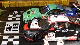 Carrera Bahn FAST LANE Der Film - Planung , Aufbau und Battle Audi vs. Porsche - Digital Slot / D124