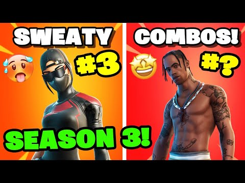Top 10 Sweatiest Skin Combos In Chapter 2 Season 3! YOU NEED TO TRY THESE! (Fortnite)