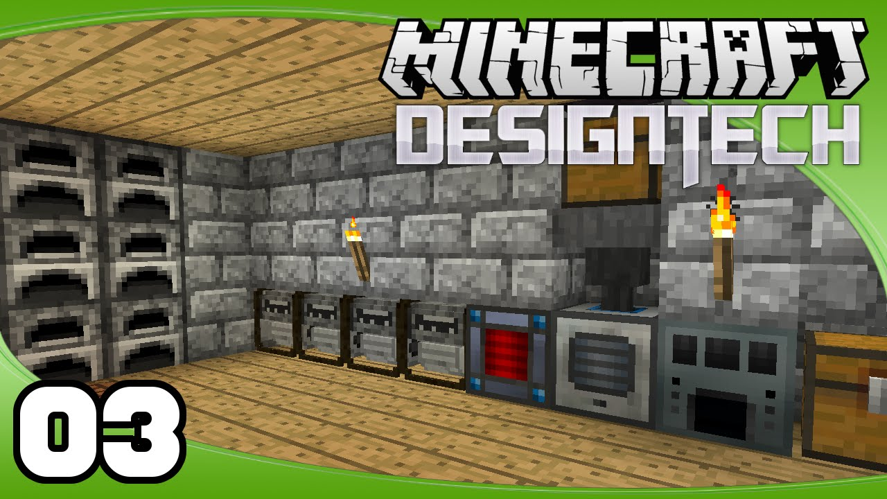 DesignTech - Ep. 3: Building a Basement  Minecraft Custom Modpack Let's Play - YouTube