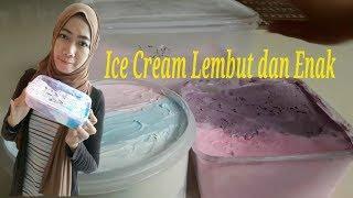 Resep cara mudah dan murah membuat ES cream lembut & enak