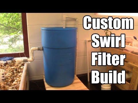 Custom 55 Gallon Drum Swirl Filter on Grow Aquaponically
