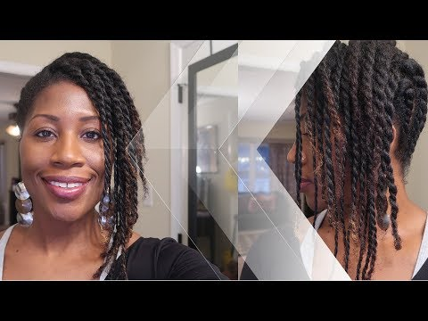 DIY Two Strand Twist Updo | Protective Style |  Natural Hairstyle for The Gym