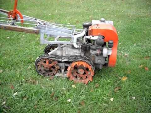 Vaughan Flex Tred 1946 Antique Garden Tractor Youtube