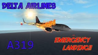 Roblox Flight | Delta Air Lines | Emergency Landing!