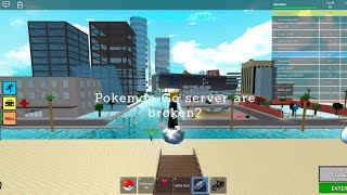 Roblox Pokemon Go | The server were Hacked!!!