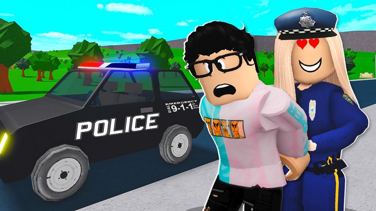 Creepy Fan Became A Cop And Arrested Me! (Roblox Bloxburg)