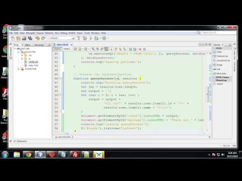 Lession 022 Web SQL Database