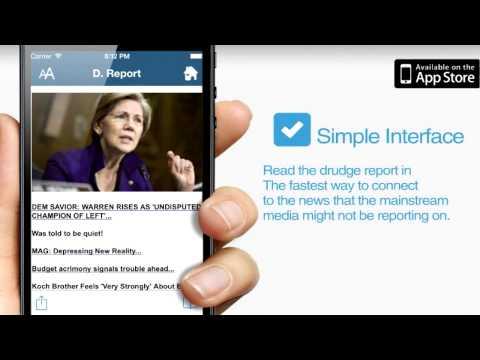 New Drudge Report App: The D  Report+: News & Headlines - YouTube