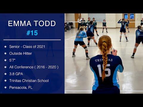 Emma Todd - Outside Hitter - Class of 2021 - Trinitas Christian School