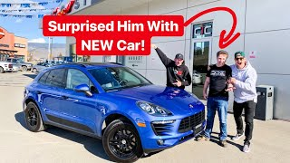 "SURPRISING OUR FRIEND ""EDITOR"" WITH NEW CAR! *EMOTIONAL*"