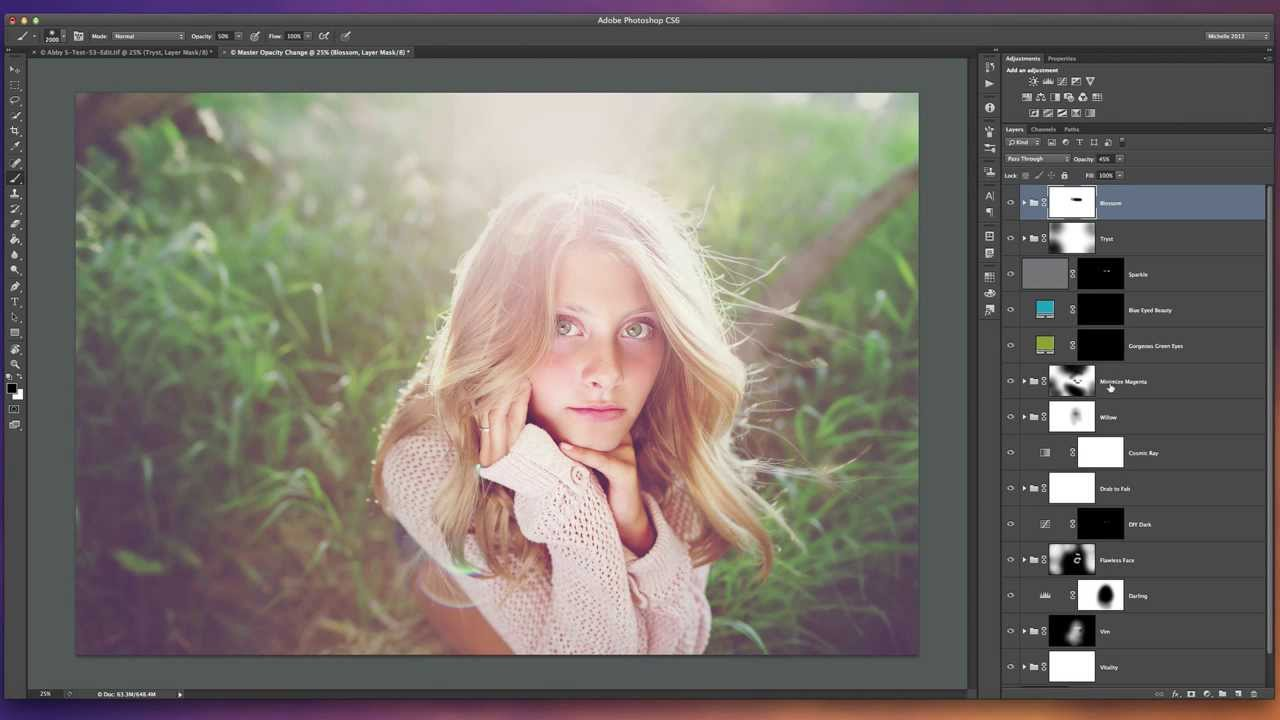 Ethereal Backlit Editing With Michelle Kane Actions