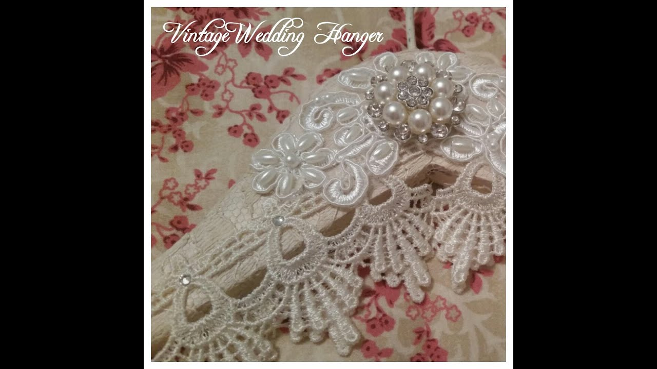 Vintage wedding dress hanger youtube for Wedding dress hanger amazon