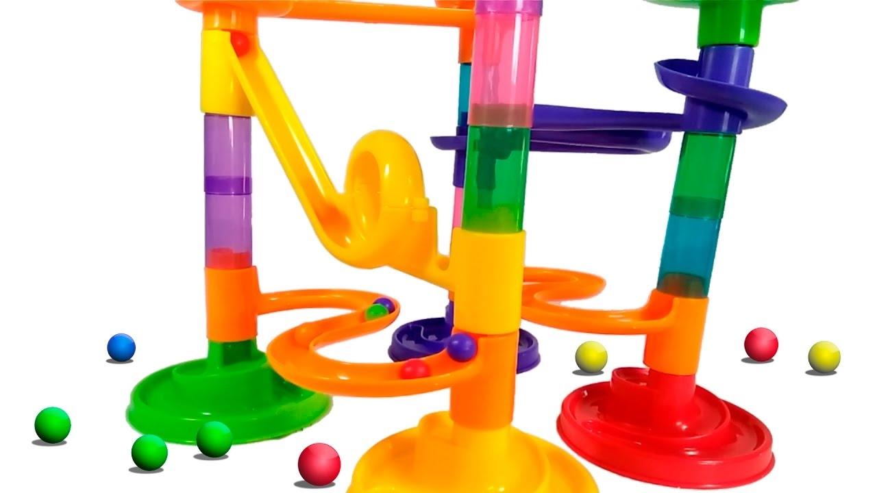 Tobogán De Juguete Circuito Bolas De Colores Canicas Juegos Infantiles Para Niños Y Niñas Youtube