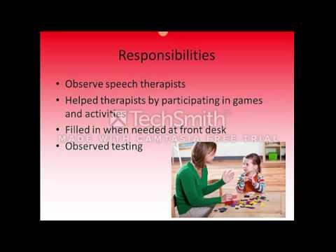 Speech and Language Clinic Internship