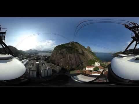 Subida de bondinho para o Morro da Urca em 360º