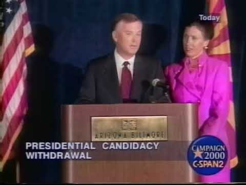 2000 Dan Quayle Withdrawals from Presidential race