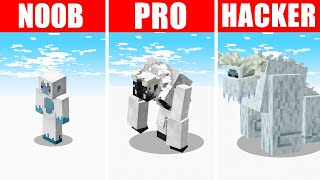 Minecraft NOOB vs. PRO vs. HACKER : YETI SURVIVAL CHALLENGE in Minecraft!
