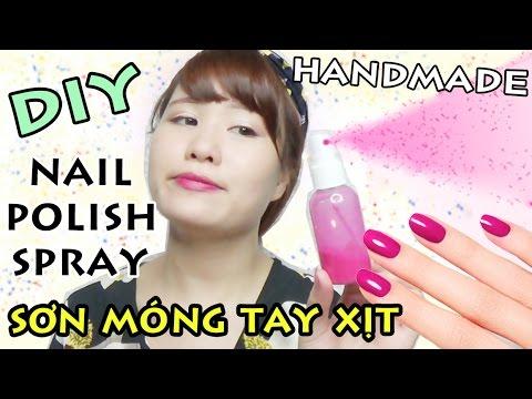 DIY NAIL 2 | LÀM SƠN MÓNG TAY XỊT - Nail Polish Spray | Ngọc Bube