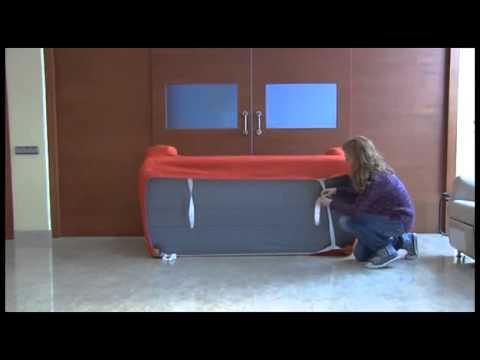 Como poner la funda elastica sofa cojin separado youtube - Fundas elasticas para sofa ...
