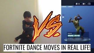 FORTNITE DANCE MOVES IN REAL LIFE CHALLENGE! FT FUYUKA, DANIEL, YAM