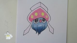 [Tutorial] How to draw Inkay from Pokemon X Y マーイーカ
