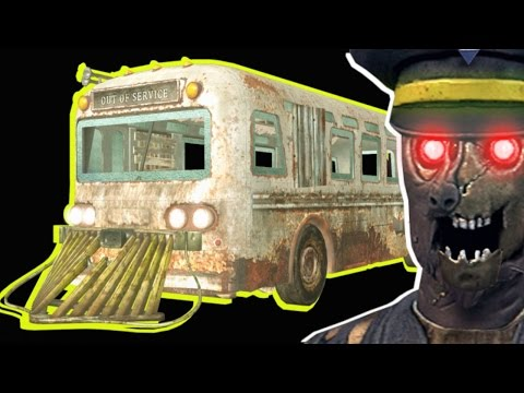 DRIVABLE TRANZIT BUS - ROUTE B MOD! Black Ops 3 Zombies Tools Gameplay