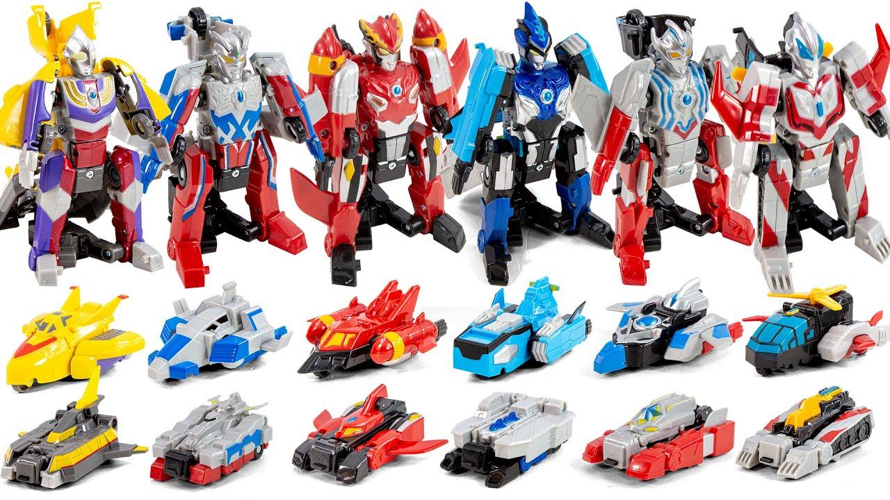 Transforms into Ultraman Robot in Car Mode 자동차 모드에서 울트라맨 로봇으로 변신