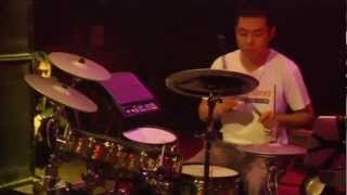 #15 Bing Nan Liu from China; V-Drums World Championship 2012