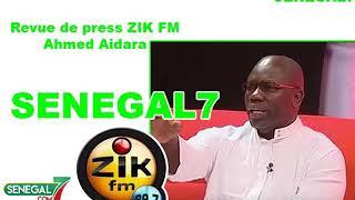 Revue de presse Zik fm avec Ahmed Aidara du 26 février 2019