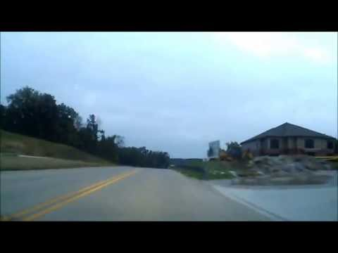 Coralville to Iowa City driving in early October 2016