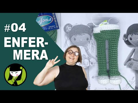 ENFERMERA AMIGURUMI 4 cuerpo de mujer tejido a crochet