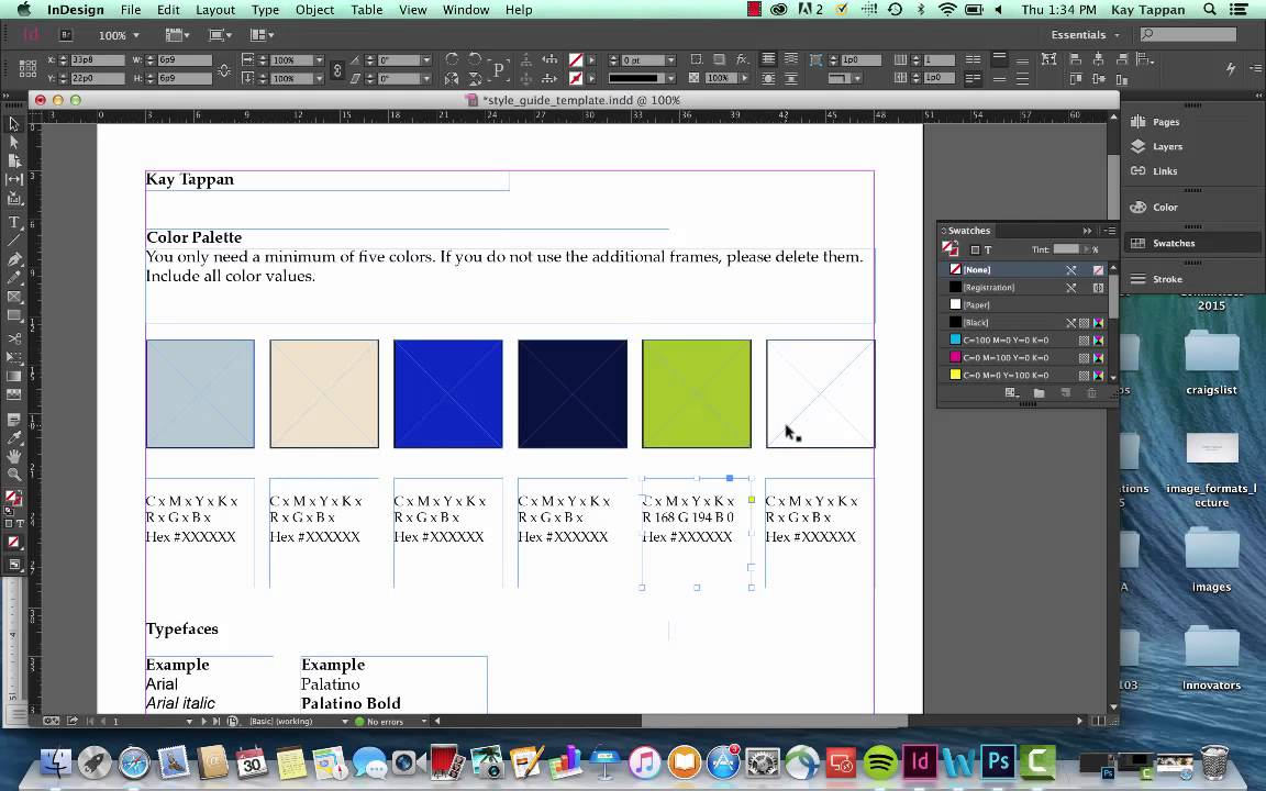create a style guide in indesign cc youtube