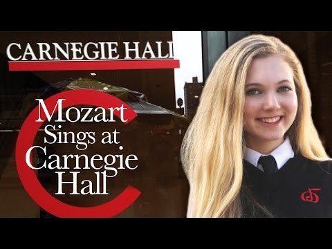 15 year old  Mozart Sings at Carnegie Hall & NYC Trip! - STORYTIME