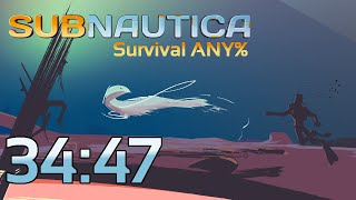 Subnautica Survival Any% 34:47 (Former World Record) [Re-timed to 34:46]