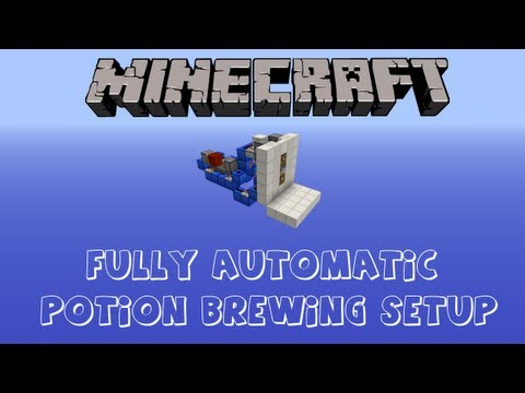 Minecraft How To Build A Automatic Brewing System
