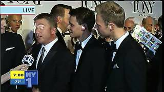 2013 Tony Awards: Red Carpet - Peter Billingsley, Benj Pasek and Matthew Morrison