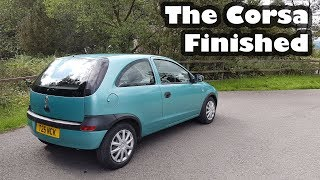 The end of Project Flip - Vauxhall Corsa wash, drive and final fix