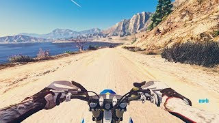 GTA 5 PC MAXED OUT 4K RESOLUTION INSANE GRAPHICS | FIRST PERSON MOTOCROSS GAMEPLAY
