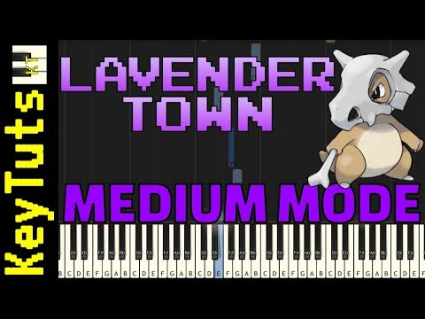 Download Learn to Play Lavender Town from Pokemon - Medium Mode