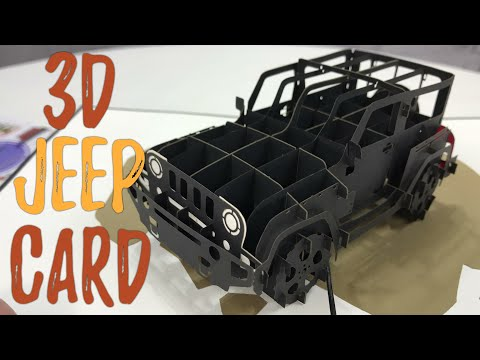 3D Pop Up Jeep Wrangler Greeting Card by PopLife Cards Review