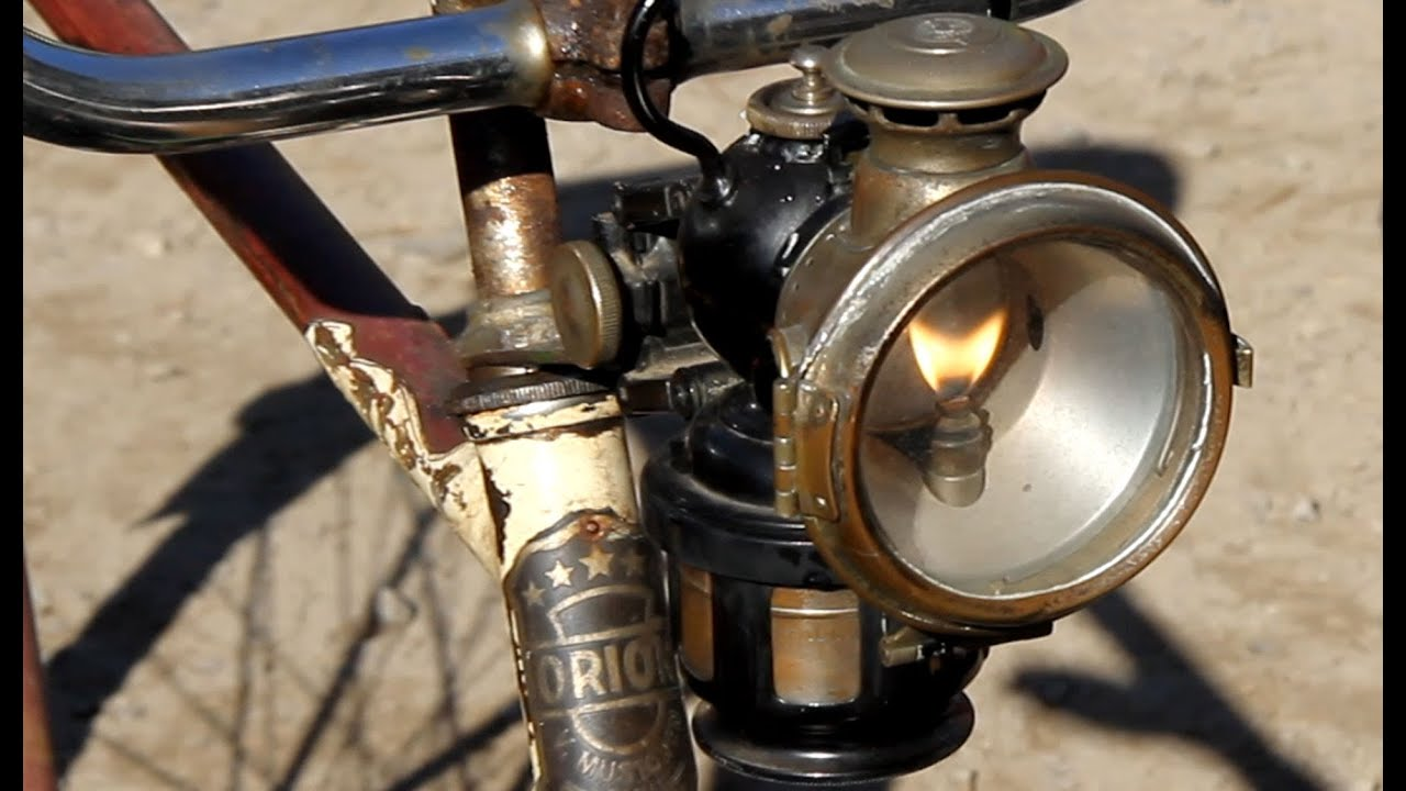 Lucas Quot King Of The Road Quot Acetylene Carbide Bicycle Lamp