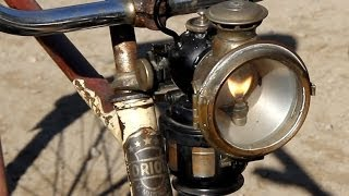 "Lucas ""King of the road"" Acetylene Carbide Bicycle Lamp"