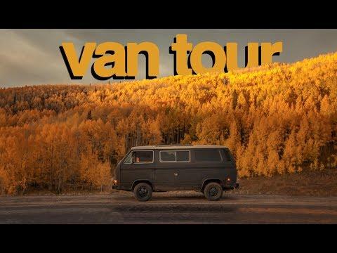VAN TOUR | 1985 VW Chalkboard Vanagon Conversion (LIVING THE DREAM LIFE)