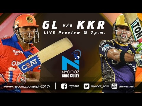 Live IPLT20 : Kolkata Knight Riders vs Gujarat Lions Match Preview on Cric Gully
