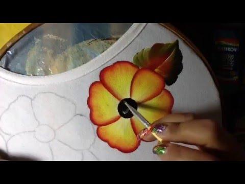 Pintura en tela flores de blusa con cony youtube - Pintura en tela motivos navidenos ...