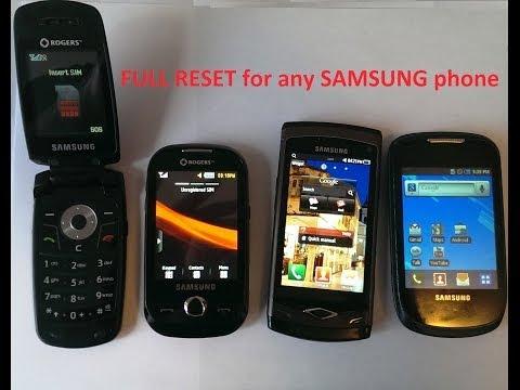 Full Reset Any SAMSUNG mobile phone