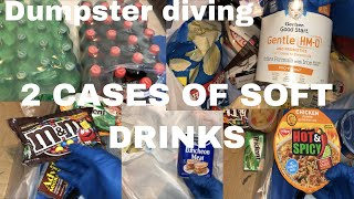 DUMPSTER DIVING / WE FOUND 2 CASES OF SOFT DRINKS, CHOCOLATE, LUNCHEON MEAT & MORE screenshot 1