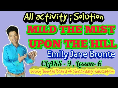 mild-the-mist-upon-the-hill-/-emily-jane-bronte,-complete-exercise-solution-!!-class-ix-lesson--6